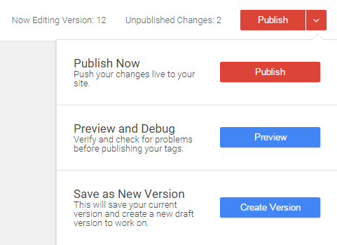 Publish, Preview, Save